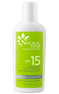 Natural Tone Organic Skincare SPF 15 Sunscreen