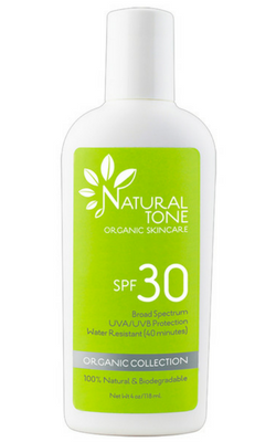 Natural Tone Organic Skincare SPF 30 Sunscreen